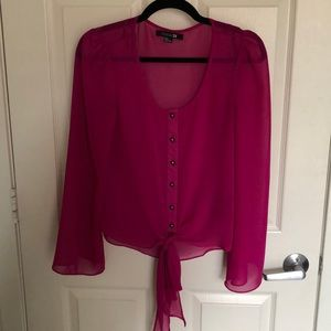 Fuschia pink Forever 21 top